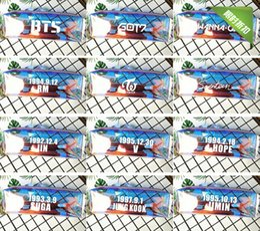 $enCountryForm.capitalKeyWord NZ - BTS bullet-proof youth group wanna one word GOT7 laser flash pen bag collection bag stationery bag