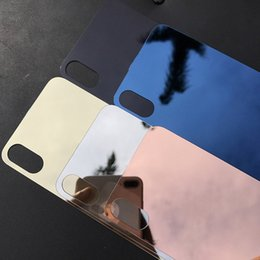 $enCountryForm.capitalKeyWord Australia - Newest For Iphone 8 plus tempered film Front+Back without logo hole Mirror Tempered Glass Screen Protector Color Plate Film NO LOGO