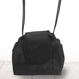 Black makeup storage online shopping - Portable Vely Veiy Makeup Bags Travel Storage Bundle Pocket Black Large Capacity Make Up Drawstring Bag New Arrive js C RW