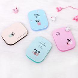 $enCountryForm.capitalKeyWord Australia - HUAMIANLI Plastic Mirror Comb Set Pink Pocket Mirror For Girls Cute Small Make Up Plant Print Size 6.8*8.8 CM