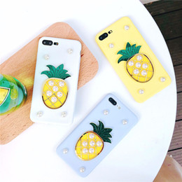 $enCountryForm.capitalKeyWord NZ - Luxury Fruits Pineapple Phone Cases For iPhone 6 6S Plus Glitter Pearl Soft TPU Back Cover For iPhone 7 8 Plus X Coque Funda