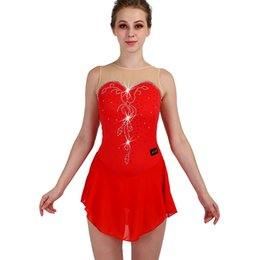 $enCountryForm.capitalKeyWord NZ - Figure Skating Dress Sleeveless Elasticity Red Women Girls Professional Crystal Custom Ice Skating Performance Clothes ZH8022
