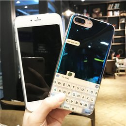 Keyboard case cover phone online shopping - Fashion Blue light keyboard Style Mobile phone Case Blu Ray Reply Information Pattern Soft TPU Cover Phone Case For iPhone X Plus