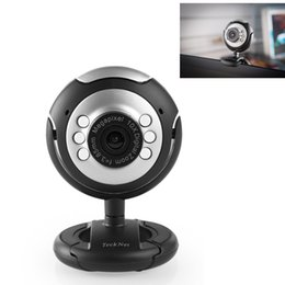 Wholesale USB HD P Webcam MegaPixel G Lens USB Microphone LED webcam for computer pc notebook with Mic win7 b
