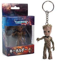 8 Tipos Mini Groot Figuras Filme Guardiões da Galáxia Chaveiro Modelo Pingente de Brinquedo Melhores Presentes