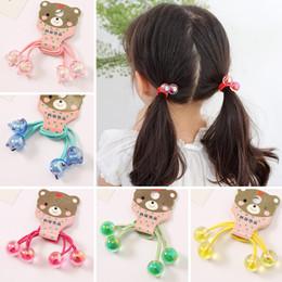 cute korean hair band 2019 - 1 pair Korean Children's Rubber Band Cute Princess Crystal Ball Hair Accessories Does Not Hurt Girls Hair String ch