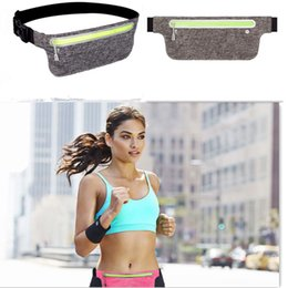 Wholesale Professional Running Waist Pouch Belt Sport Belt Mobile Phone Men Women With Hidden Pouch Gym Bags Running Belt Waist Pack