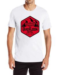 Manica corta allentata casuale di stampa della stampa del cotone degli uomini di Overlook Hotel della maglietta in Offerta