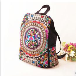 $enCountryForm.capitalKeyWord Canada - Mochila Vintage Embroidery Ethnic Canvas Backpack Women Handmade Flower Embroidered fashion Travel Bags Schoolbag Backpacks Rucksack