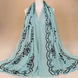 Chinese pashmina sCarves online shopping - Chinese style cotton and linen embroidery thin section women s scarf new shawl Scarves