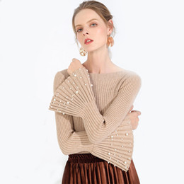 Long Nails Girls UK - [Lakysilk] Pullover Sweater Women Korean Female Clothes Simple 2018 Autumn Pullover Sweater Girls Long Sleeve Top Nail buckle