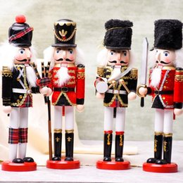 Discount nutcracker gifts wholesale - Household Nutcracker Puppet Soldiers Crafts Novelty Eco Friendly Wooden Ornaments For Christmas Home Decor Supplies High