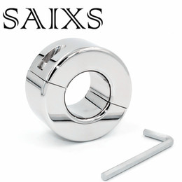 Ball Stretching Toys Australia - Scrotum penden Stainless Steel Ball Stretcher Men Penis Cock RingTesticle Stretch Sex Toy Drop shipping Y1892804