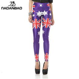 f7b35ef5432b67 2019 NADANBAO High Waist Sexy Leggings Women The Union Jack Flag 3D Digital  Printed Legins Plus Size Workout Leggins Pants