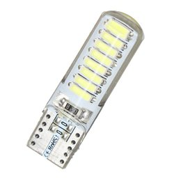 China T10 W5W 16 SMD LED Silica Gel Wedge Light 194 4014 WY5W Silicone Shell Car Reading Dome Lamp Auto Parking Bulb suppliers