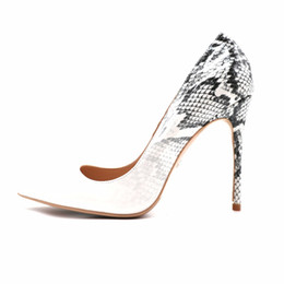 868674890395 Free Shipping women lady 2018 Patent Leather grey python snake Poined Toes  Wedding heels Stiletto High Heels shoes pumps 12cm 10cm 8c m