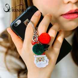 cellphone keys NZ - Cellphone Straps & Charms Personal Customization Accessories Santa Claus Key Chain Christmas Gift Korean Import Manual customization