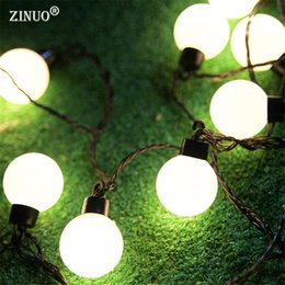 led outdoor christmas lights balls NZ - ZINUO 5CM Big Ball LED String Light Christmas Outdoor Lighting 2.5M 5M 10M Fairy String Garland Party Wedding Starry Lights Deco