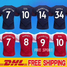 c5aef42ffb2 DHL Free Shipping 2019 ALEXIS home red 18 19 Soccer Jersey MKHIARYAN  LACAZETTE GIROUD WALCOTT S.CAZORLA XHAKA BELLERIN OZIL Football Shirts