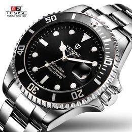 reloj water resistant 2018 - 2017 Tevise Brand Men Mechanical Watch Automatic Role Date Fashione luxury Clock Male Reloj Hombre Relogio Masculino che