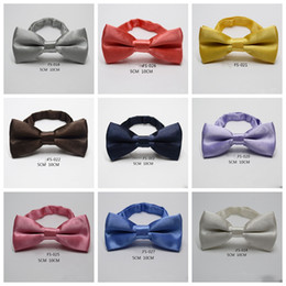 d805cab25d2a Baby boys girls bow candy color tie men holiday solid colors pattern bow  tie Wedding Bow Ties 32 different colors