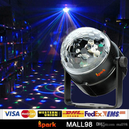 dj stage color changing ball NZ - Mini RGB disco projection display, LED magic crystal ball lighting effect? DJ stage light bulb bar light entertainment show atmosphere