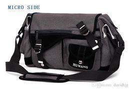 $enCountryForm.capitalKeyWord Australia - Huwang Photo Camera DSLR Video Canvas Shoulder Waterproof Bag Travel Tripod Soft Padded Case Carrying Bags for Canon Nikon SLR