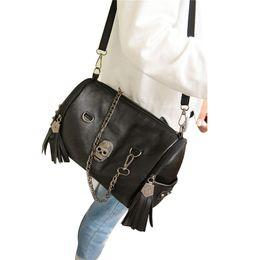 Laamei Crossbody Tote Bag Rivet Envelope Mini Clutch Shoulder Bag For Women  Punk Skull Women Female Sac A Main 7bb6f5beaf