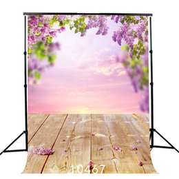 background backdrop floor NZ - floral backdrop spring sky bokeh portrait door wooden floor backgrounds for photo studio wedding baby shower vinyl cloth 3D