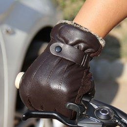 $enCountryForm.capitalKeyWord NZ - Hot Sale Gloves Men Winter Gloves Button Warm Mittens Luxurious PU Leather Driving Men's Genuine Stitching High Quality