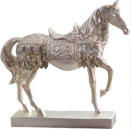nice drawings UK - Horse Creative Living Room Decor Accessories nice Home Furnishing For Home Decoration Accessories Artesanato Vintage Home Decor