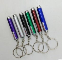 pen led torch NZ - 400pcs RA 2 in 1 Red Laser Pointer Pen + Led white Light Torch Keychain DHL Fedex Free Shipping