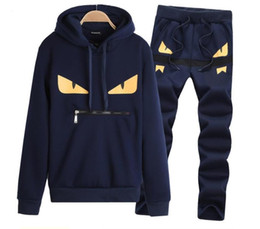 Little Hats Australia - mens designer tracksuits Leisure sports running mens suit little monster New style hat and long sleeved sweater in spring and Autumn