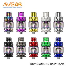 best box mods 2019 - 100% Orginal IJOY Diamond Baby Subohm Tank 4ml with 2ml Regular Glass Tube & 510 Resin Drip Tip best for Diamond Mini Bo