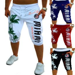 Design compression shorts online shopping - Summer Shorts Mens Tights Compression Palm Print Design Bermuda Short Men Homme Shorts Black Gray M XXL