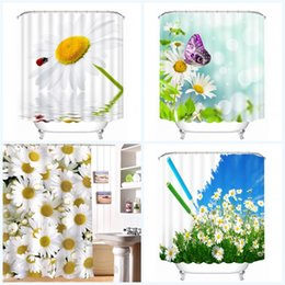 Discount shower curtains modern - Custom Beautiful Flowers Shower Curtains Fabric Modern Bathroom Bath Decor Cloth Water Proof Curtain Removable Digital P