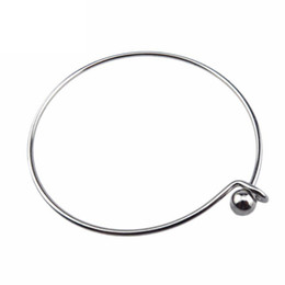 China Stainless Steel Expandable Bangle Bracelet Charms DIY Pearl cage pendant Bracelets Bangles For Pendant Locket cage bracelet Jewelry supplier steel pearl suppliers