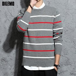 $enCountryForm.capitalKeyWord NZ - 2018 New Fashion Brand Sweaters Woolen Mens Pullovers Slim Fit Jumpers Knit Striped Autumn Korean Style Casual Men Clothes