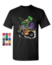 $enCountryForm.capitalKeyWord NZ - 8 Ball Yellow Hot Rod T-Shirt Crazy Green Monster Rat Muscle Car Mens Tee Shirt T-Shirt Men Man's Geek Short Sleeve Cotton Custom