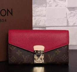 Coin Shape Dresses NZ - PALLAS wallet M58413 S-shaped lock women long wallet OXIDIZED LEATHER CLUTCHES EVENING LONG CHAIN WALLETS COMPACT PURSE