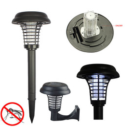 Wholesale UV LED Solar Powered Lawn Light Outdoor Hang or Stick in the Ground Anti Mosquito Insect Pest Bug Zapper Killer Trapping Lamp