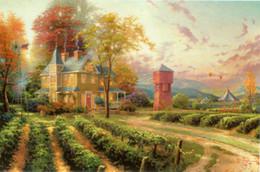 $enCountryForm.capitalKeyWord Australia - Thomas Kinkade Oil Painting art Landscape series Reproduction High Quality Giclee Print on Canvas Modern Home wall Art Decoration JHFJ468