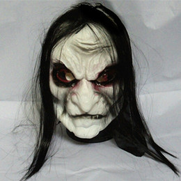 Discount zombie masks - Halloween Mask Long Hair Ghost Scary Mask Props Grudge Hedging Zombie Realistic Masks Masquerade Party