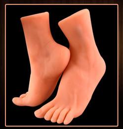 Foot Fetish sex toys online shopping - Foot Fetish Male Masturbators Super Realistic Artificial Feet Vagina Pocket Pussy Man Masturbation Cup Sex Toy