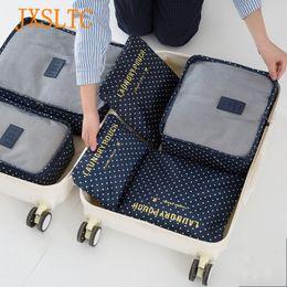 8eaea1c0fae2 JXSLTC 6 PCS Set Travel Luggage Storage Bag Clothes Tidy Organiser Bag  Handbag Closet Divider Organizer Container Packing Cubes