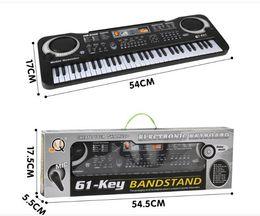 Toptan satış 1 adet / Çok İşlevli 61 tuşları Erken Eğitim Müzik Elektronik Klavye Ile Mikephone Çocuk Piyano Organ Kayıt Perakende paketi ile Oynatma