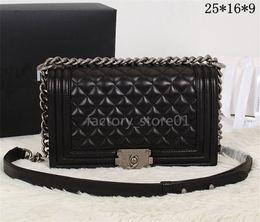 small hasp lock 2018 - Classic Boy Flap Bag Women's Plaid Chain Bag Ladies Luxury High Quality Handbag Fashion Designer Purse Shoulder Mes