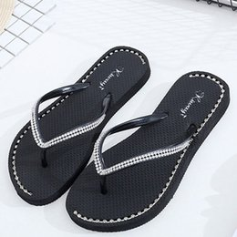 3ca24199b888c9 Women Sandals Bohemian National Diamond Clip Toe Flat Casual Woman Shoes  Women Flip Flops Ladies Fashion Rhinestone Sandals