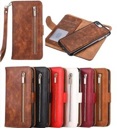 $enCountryForm.capitalKeyWord NZ - 2 in 1 Detachable Removable Zipper Wallet Strap Leather Case For iphone XR XS Max 8 7 Plus Samsung S10 S9 Plus Note