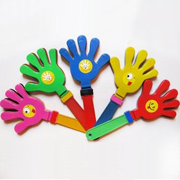 Discount clapper toy - Free Shipping,Plastic Hand clapper,clap toy,cheerleading clap for game, football game, 28cm length